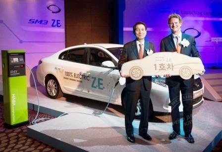 "Renault Samsung Motors launched ""SM3 Z.E."" in Seoul"